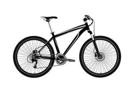 Mountain bike isolated on white background.Realistic bike.Vector illustration. Stock Illustratie
