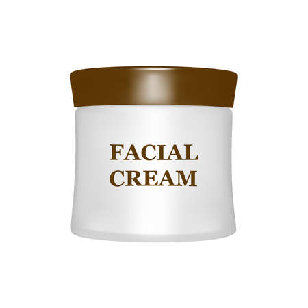 Face cream isolated on white background.Vector illustration.  イラスト・ベクター素材