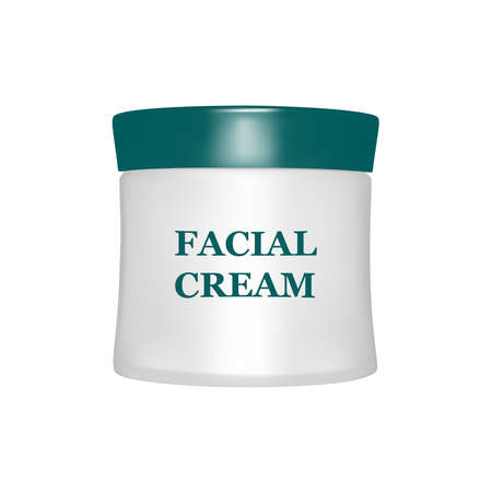 Face cream isolated on white background.Vector illustration. Illustration