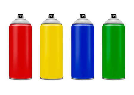 Spray with paint on white background.Spray paint.Vector illustration. Ilustração
