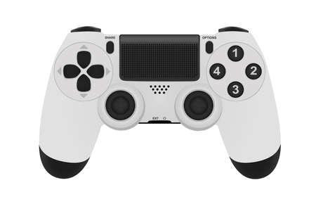 Game controller isolated on a white background.Vector illustration.Photo-realistic joystick. 向量圖像