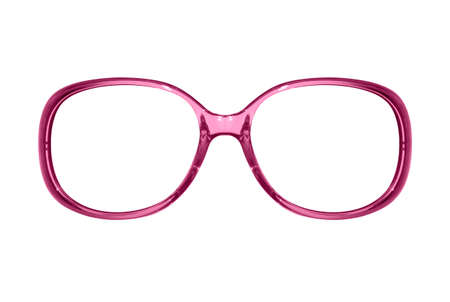 Frame womens glasses on a white background.