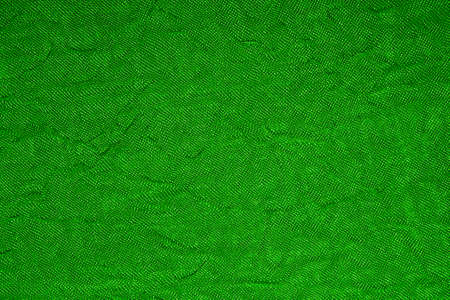 Green wrinkled fabric texture to the mesh.