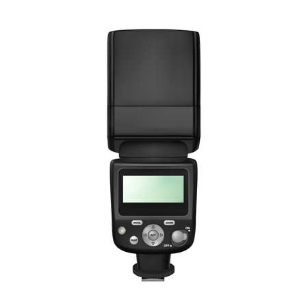 Flash for SLR cameras in vector on white background.