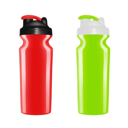 Plastic shaker on white background. Cocktail shaker in vector. 向量圖像