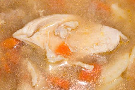 Chicken soup.Chicken soup background.Chicken broth.