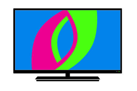 Logo LCD TV in vector on white background.