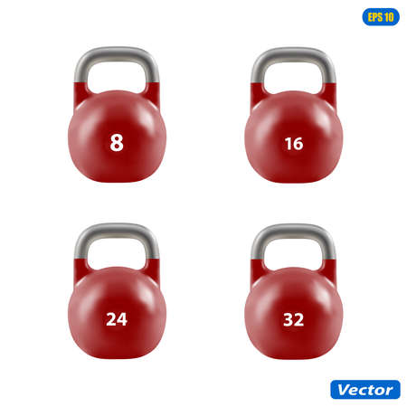 Weight for sports in vector on white background. Illustration