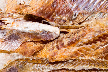 Dried fish to beer.Purified dried fish.Background of dried fish. Banque d'images