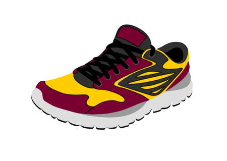 Sports sneakers in vector on white background. Standard-Bild - 112449145
