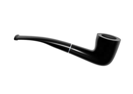 Smoking pipe in the vector.Smoking pipe. Vector illustration.