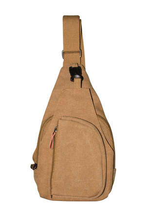 Small backpack with one strap.