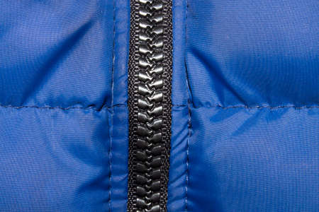 Tractor zipper sewn into the jacket.