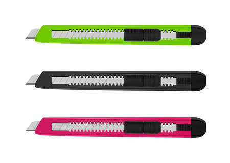 Office knife in the vector. Illustration