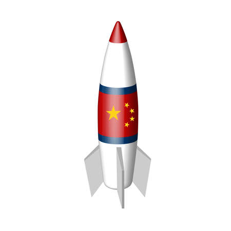 Chinese military missile in the vector. Banque d'images - 119662212