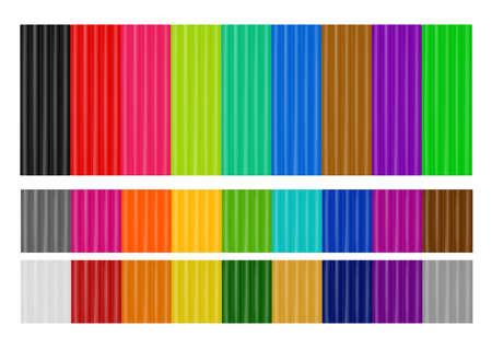 Colored plasticine in vector.