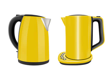 Electric kettles for household use in the kitchen.