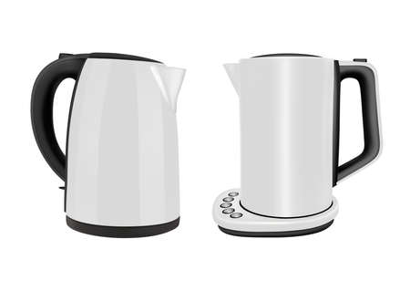 Electric kettles for household use in the kitchen. 일러스트