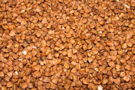 Buckwheat.Background of buckwheat.