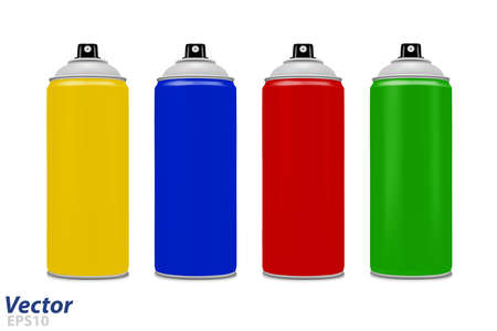 Spray paint in the vector. Stock Illustratie