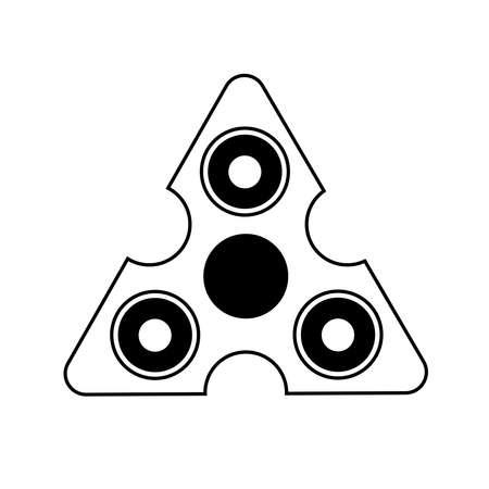 Spinner logo in vector.Spinner isolated on white background. Ilustrace