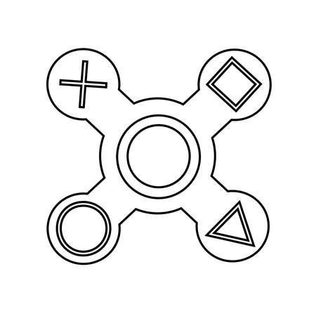 Spinner logo in vector.Spinner isolated on white background. Illustration