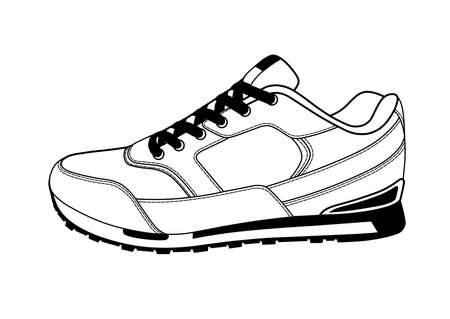Sneakers on a white background.
