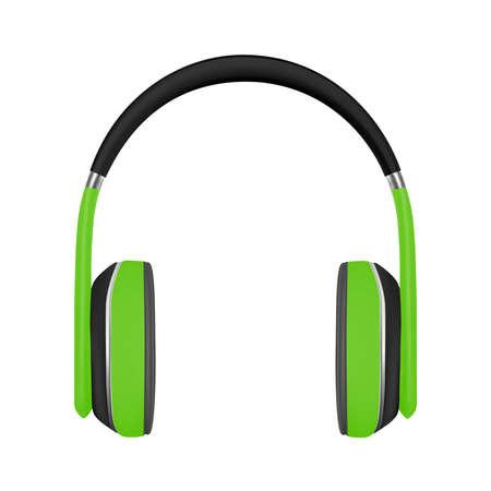 Headphones on white background. Ilustrace