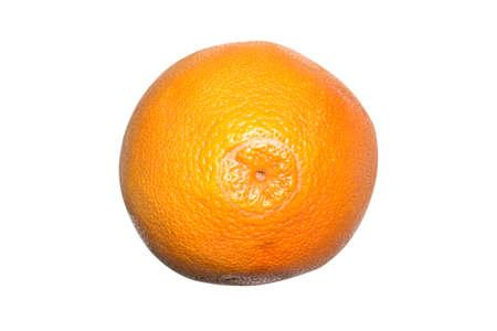 Ripe grapefruit isolated on white background.