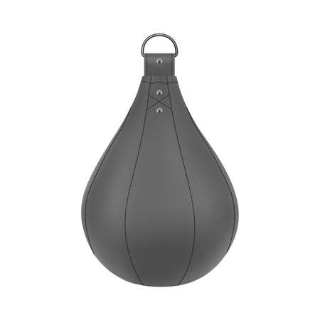 Punching bag in vector on white background. Çizim