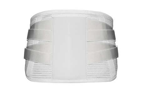 Elastic medical waist corset for lower back. Banco de Imagens