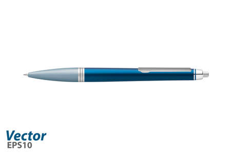Automatic ballpoint pen in vector. Business class ballpoint pen in vector. Vector Illustratie