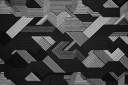 Fabric texture with abstract lines.Fabric background with black and white lines.Abstract black and white background.