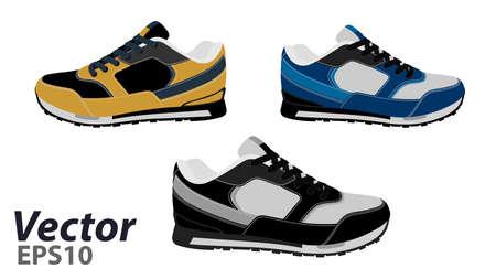 Running Shoes Vectoren, Illustraties En Clipart 123RF