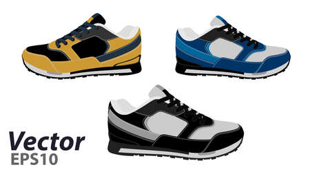 Sneakers vector EPS 10. The logo of the sneaker in the vector.