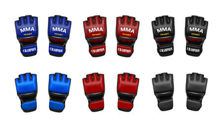 MMA gloves in vector. Gloves for mixed martial arts in vector.