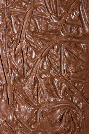 The texture of the melted chocolate top view. Stock Photo
