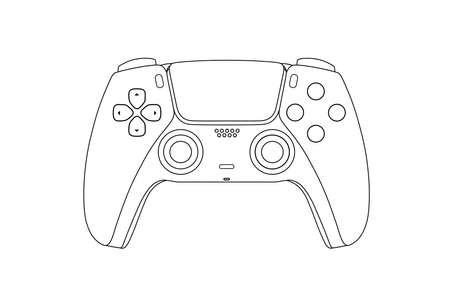 Gamepad logo.Gamepad for a new generation console in vector.