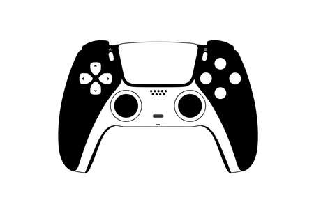 the gamepad for the new generation console in vector. 向量圖像