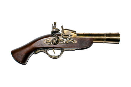 Pirate blunderbuss on  white