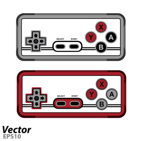 Game joystick in vector.Gamepad for a new generation of game console vector illustration.