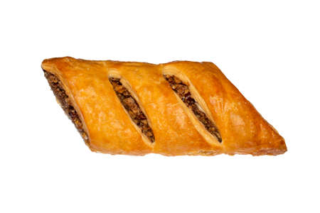 Baklava on a white background.Eastern sweetness of baklava.