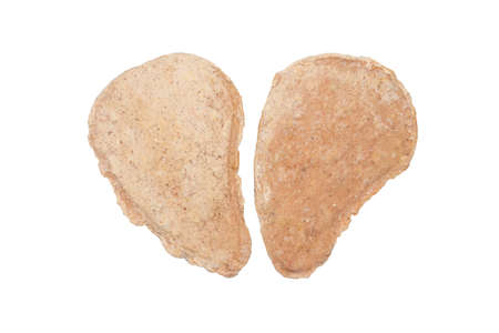 Fresh raw cutlets on a white background. Cutlets frozen from fresh raw minced meat. 版權商用圖片