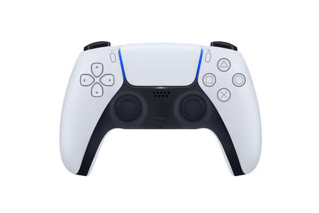 Game controller in vector.Joystick vector illustration.Gamepad for game console The joystick for the console.