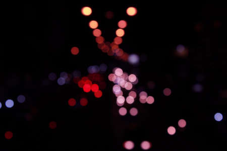 crowded space: Night lights of the big city