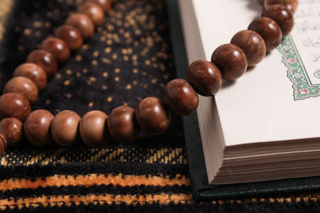 coran: tasbih - moslem prayer beads Stock Photo