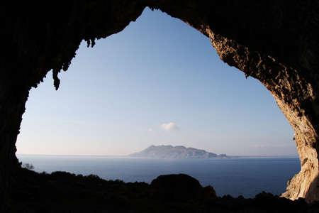 egadi: Grotta Grande and Favignana Stock Photo