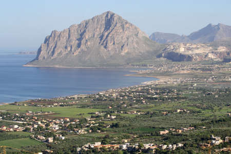trapani: Monte Cofano - Trapani - Sicily Stock Photo