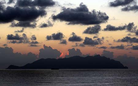 egadi: Marettimo at sunset - Egadi islands