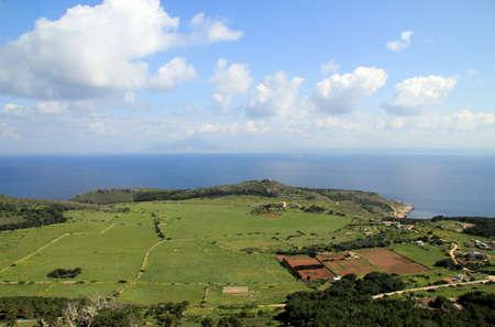 egadi: The hinterland of Levanzo - Egadi islands in Sicily Stock Photo
